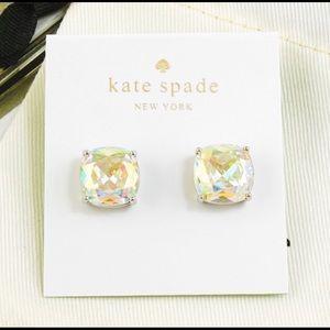 Kate Spade Square Earrings Aurora AB Silver